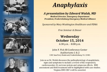 EMS Night Out – Anaphylaxis